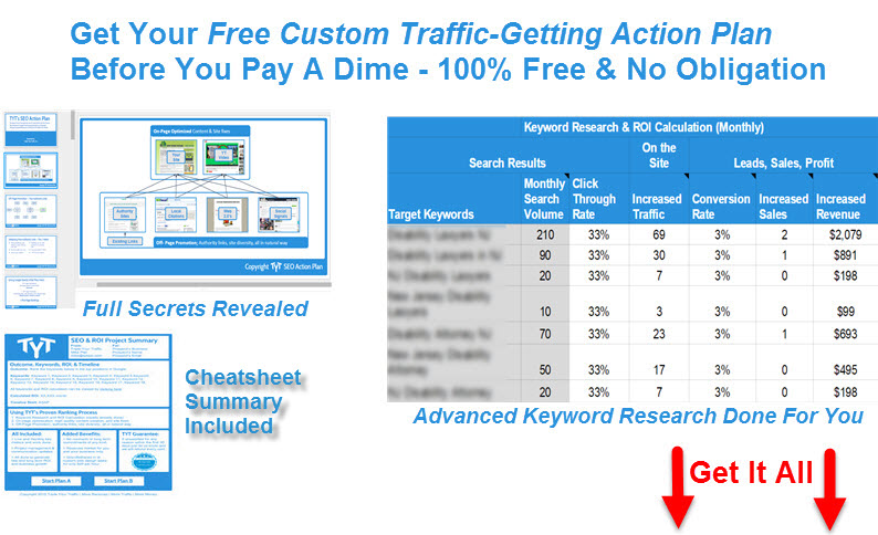 Triple Your Traffic SEO Plan Free - TYT - free for Maryland SEO companies, firms, and experts.